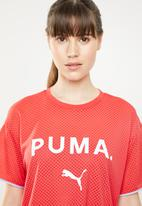 PUMA - Chase mesh tee - coral