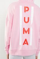 PUMA - XTG halfzip hoodie - pink