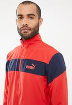 PUMA - Clean woven tracksuit set - red & navy