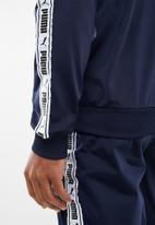 PUMA - Mens tape track jacket - navy & white