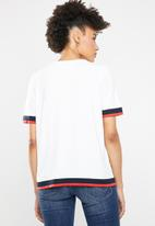 ONLY - Nola short sleeve knitted top - multi