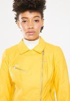 ONLY - Flora biker jacket - yellow