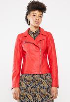 ONLY - Flora biker jacket - red