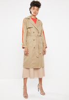 ONLY - Isabella long trench - neutral & orange