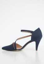 Call It Spring - Faux leather strappy stiletto pump - navy
