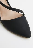 Call It Spring - Faux leather strappy stiletto pump - black
