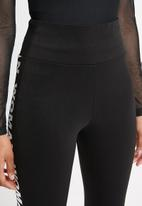 STYLE REPUBLIC - Contrast tape leggings - black