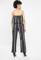 STYLE REPUBLIC - Bardot jumpsuit - black  & white