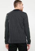 Jack & Jones - Tanner sweat bomber jacket - black & white