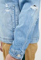 Jack & Jones - Oversized coach jacket - blue