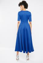 STYLE REPUBLIC - Volume fit and flare maxi - blue