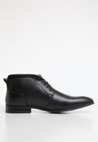 Gino Paoli - Steven lace-up boot - black