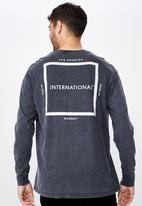 Cotton On - Tbar long sleeve tee - charcoal