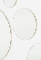 Native Decor - Round frameless mirror - set of 4