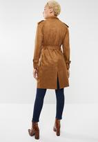 Sissy Boy - Lupin soft suede trench coat - tan