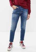 Diesel  - Babhila mid cropped jeans - blue