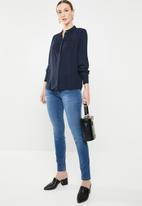 Jacqueline de Yong - Ibi long sleeve shirt - navy