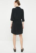 Jacqueline de Yong - Gilbert 3/4 dress - black