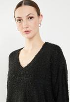 Jacqueline de Yong - Bucca longsleeve pullover knit - black