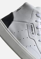 adidas Originals - adidas SLEEK MID W - ftwr white/ftwr white/core black