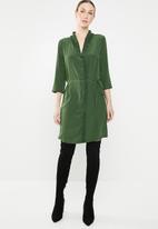 Jacqueline de Yong - Gilbert 3/4 dress - green