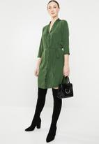Jacqueline de Yong - Gilbert 3/4 dress - green