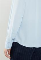 Jacqueline de Yong - Ibi long sleeve shirt - blue