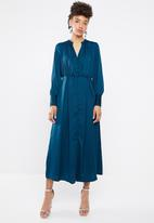 Vero Moda - Tassy long sleeve ankle dress - blue