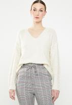 Jacqueline de Yong - Bucca longsleeve pullover knit - cream