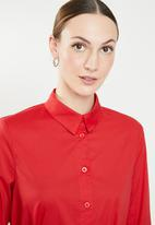 STYLE REPUBLIC - Self-tie shirt - red