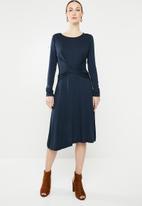 edit - Twist front dress - navy
