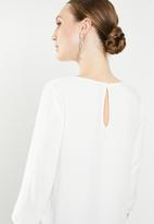 ONLY - Nine 3/4 sleeve top - white
