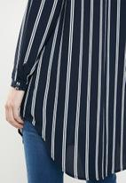 ONLY - Winner tunic top - navy & white