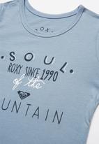 Roxy - Soul of the mountain tee - blue