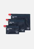 Herschel Supply Co. - Travel pouch set of 3 - navy & red