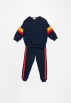 POP CANDY - Kids tracksuit - navy & orange