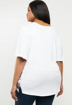 edit Plus - Stripe tunic - white & grey