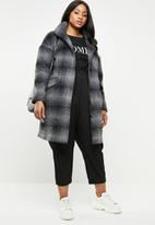 STYLE REPUBLIC PLUS - Coat with zip and press stud closure - charcoal & black