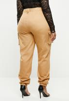Missguided - Curve side pocket trousers - tan