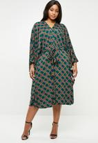Plus-Fab - Caftan dress - multi