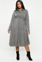 AMANDA LAIRD CHERRY - Bontle shirtdress - black & white