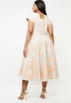 AMANDA LAIRD CHERRY - Alessa midi dress - apricot