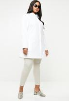 AMANDA LAIRD CHERRY - Nonku tunic shirt - white