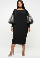 Plus-Fab - Lusherns dress - black