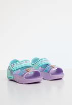 Character Fashion - Frozen adventure sandals- purple & turquoise