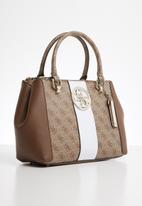 GUESS - Bluebelle status satchel - brown