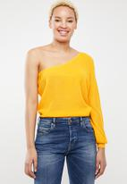 ONLY - Cathrine one shoulder top - yellow