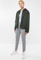 ONLY - Cool bee contrast check ankle pant - black