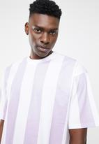 Only & Sons - Hurry oversized stripe tee - lilac & white