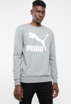 PUMA - Classics logo crew long sleeve - grey